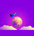 businessman jumping over moon vector image