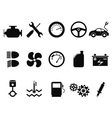 car engine icons set vector image vector image