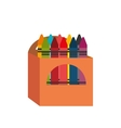 cartoon crayons box design vector image