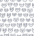 Cat faces seamless pattern vector image vector image