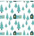 christmas seamless pattern in winter vector image
