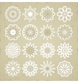 Christmas snowflakes - stickers vector image