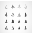 Christmas tree icons set vector image vector image