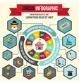 Circus infographic flat style vector image vector image