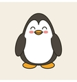 cute penguin tender isolated icon vector image
