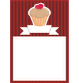 Dark card or invitation with sweet cupcake vector image vector image