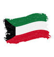 flag of kuwait grunge abstract brush stroke vector image vector image