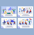 flat banner set for business and self development vector image