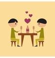 flat icon on stylish background gay romantic vector image