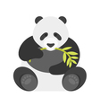flat style of panda vector image vector image