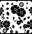 floral seamless pattern black vector image vector image