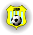 football soccer yellow team logo with text vector image vector image