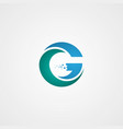 g letter logo design vector image vector image