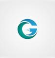 g letter logo design vector image