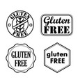 gluten free seals badges icons vector image vector image