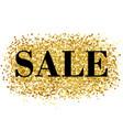gold sale background vector image