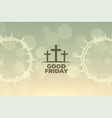 good friday background with cross symbol design vector image vector image