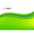 Green waves ecology background vector image vector image