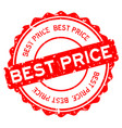 grunge red best price word round rubber seal vector image vector image