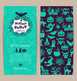 halloween party thin invitation card vector image vector image