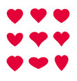 heart symbol shapes vector image vector image