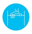 High jump line icon vector image vector image