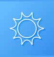 icon weather sun vector image vector image