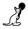 kangaroo with balloon vector image vector image