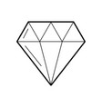 luxury diamond isolated icon vector image vector image
