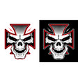 maltese cross with a skull vector image vector image