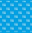 marking calendar pattern seamless blue vector image vector image
