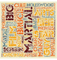 Martial Arts Cult Stars text background wordcloud vector image vector image