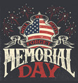 memorial day vintage greeting card vector image vector image