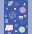 memphis abstract shapes compositions 80s 90s style vector image vector image