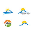 mountain icon logo business template vector image