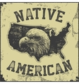 native American poster vector image vector image