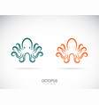 octopus design on a white background aquatic vector image vector image