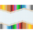 pencil background vector image