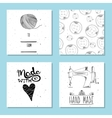 Printable cute cards for sites in the retro style vector image vector image
