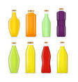 realistic detailed 3d different types juice bottle vector image vector image