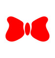 red bow tie sign 1011 vector image vector image