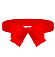 red textile ribbon ring and bow vector image