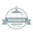 research laboratory logo simple gray style vector image vector image