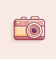 retro vintage camera vector image