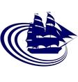 Sailing ship-6 vector image vector image