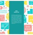 seo banner in flat style with place for text vector image