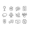 set business icons such as thumb down organic vector image vector image