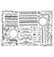 set hand drawing doodle page divider border vector image vector image