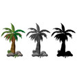 set of palm tree design vector image vector image