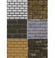 six abstract brick texture vector image